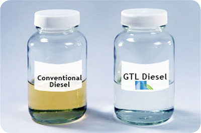 bottle of gtl diesel vs conventional diesel